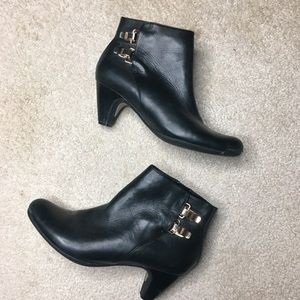 Sam Edelman heeled booties with buckles Size 8